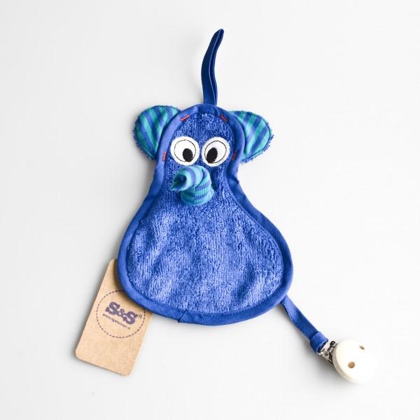 Speendoekje olifant – Blauw