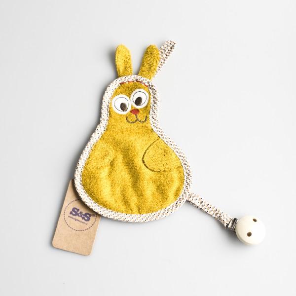 Speendoekje konijn – Okergeel