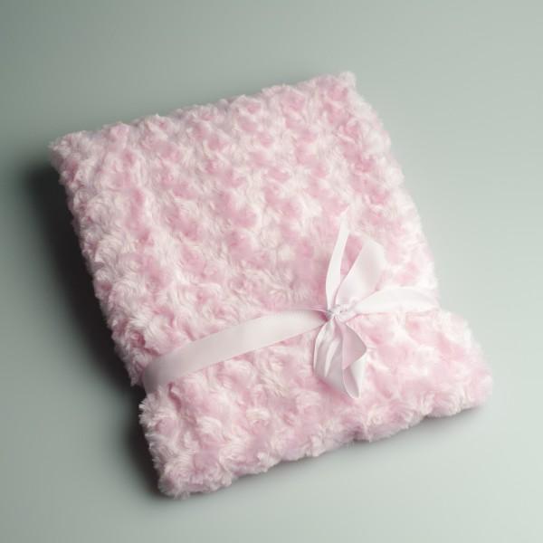 Wiegdeken Rozenmotief (roze)