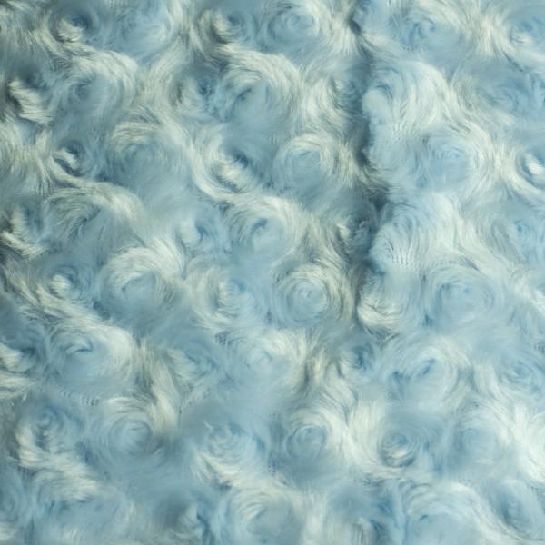 Wiegdeken Rozenmotief (blauw)