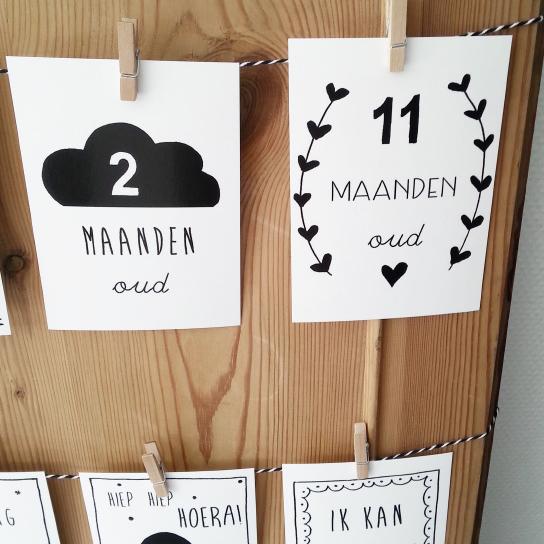 Mijlpaalkaarten baby Nederlands